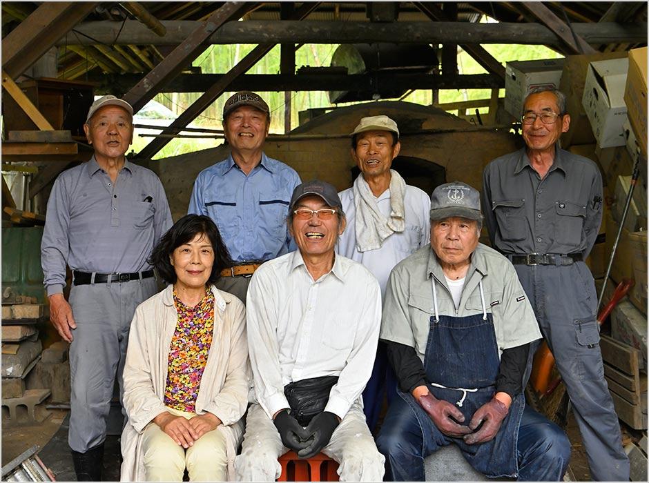 真備町竹炭生産販売組合「マービー窯」の皆様